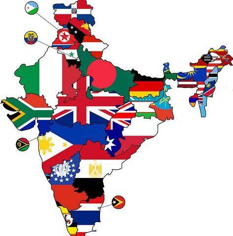 Import z Indii - mapa Indii