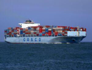 Transport z Chin - statek